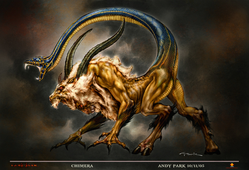 Greek Mythology wallpaper entitled chimera