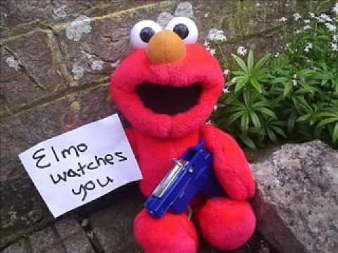 elmo has a gun