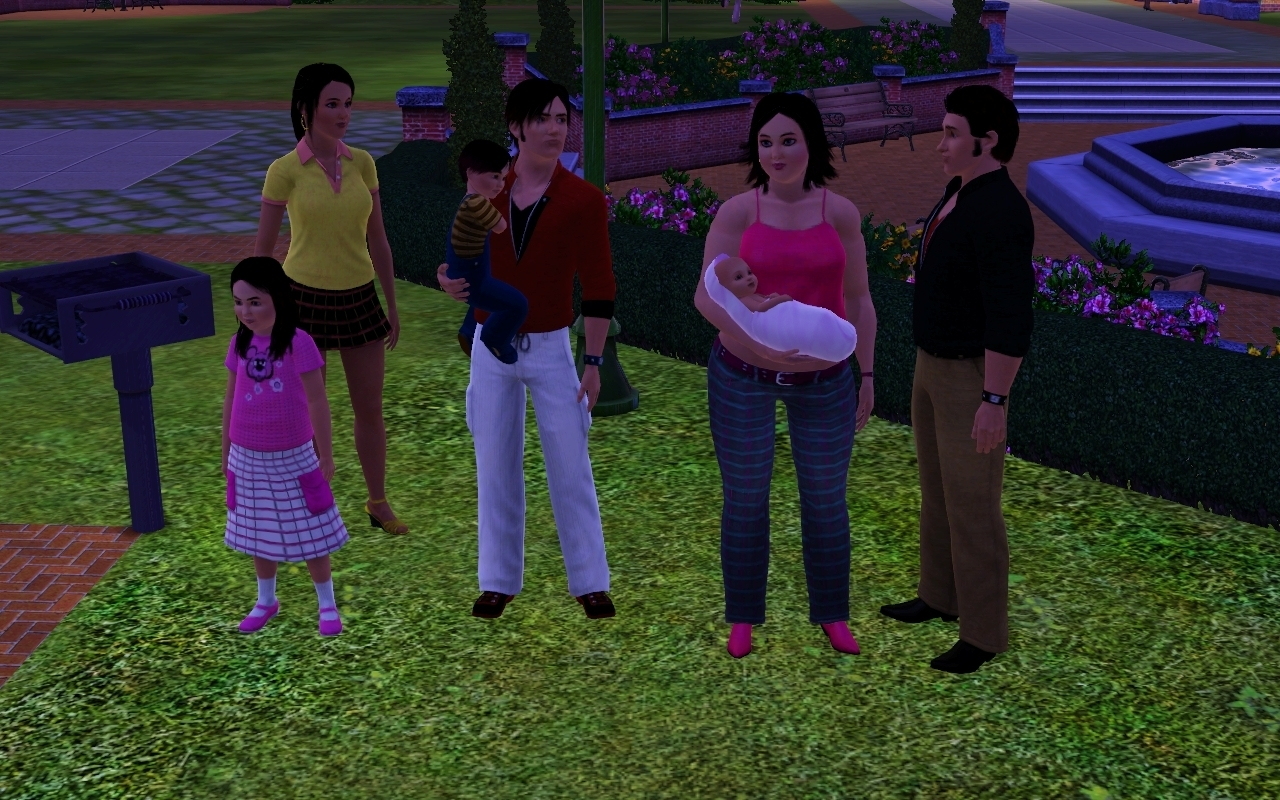Sims 3 family ideas pictures to pin on pinterest thepinsta for Family of 3 picture ideas