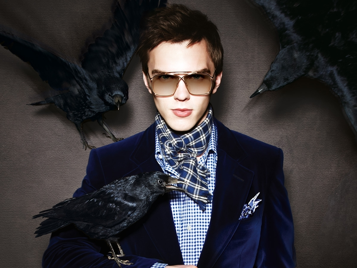 nicholas hoult for tom ford fall 2010.