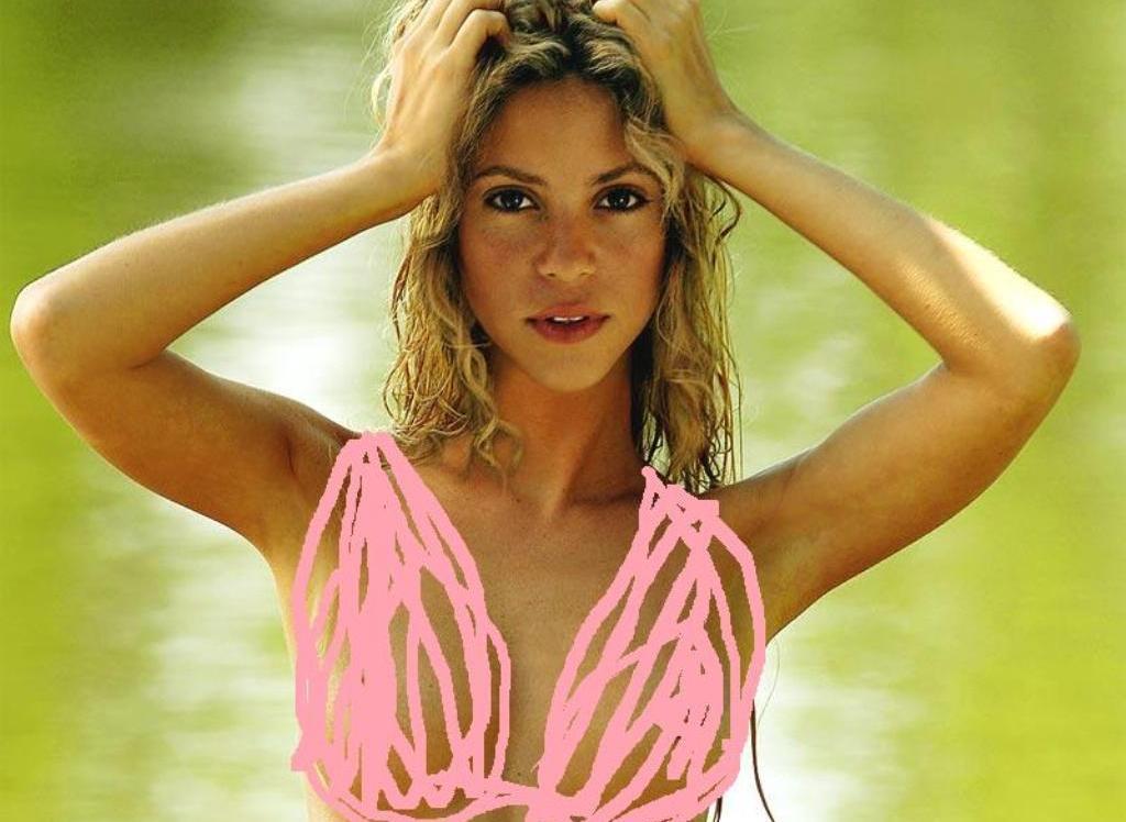 Shakira rosa bikini