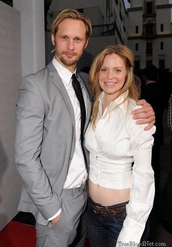 Alexander Skarsgård and Kristin Bauer