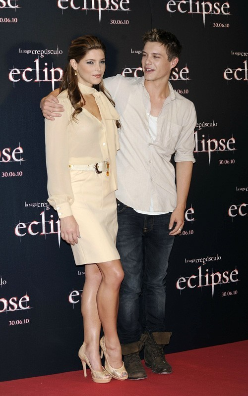 Ashley&Xavier promoting Eclipse in Madrid
