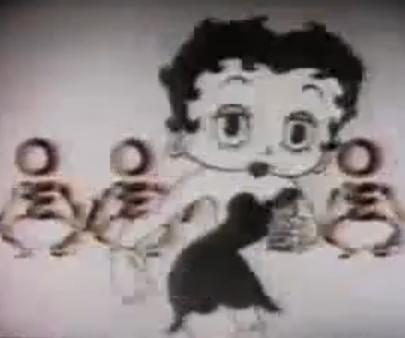 Betty Boop tastes Hersheys