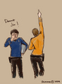 Bones and Kirk - star-trek-2009 fan art