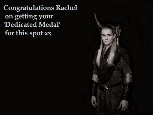 Congratulations Rachel on your dedicated medal x