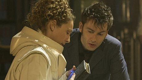 The Doctor and River Song karatasi la kupamba ukuta called Doctor&River