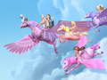 barbie-and-the-magic-of-pegasus - Flying to home together wallpaper