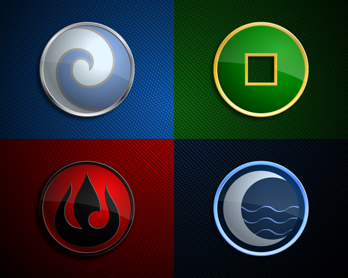 Four Nation Insigmas Wallpaper - avatar-the-last-airbender Wallpaper