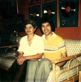 Freddie  With parents Jer and Bomi Bulsara in the early 1980s - freddie-mercury Photo