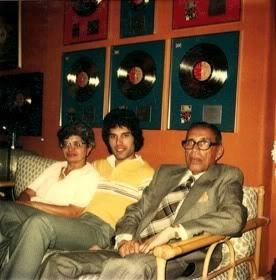Freddie With parents Jer and Bomi Bulsara in the early 1980s