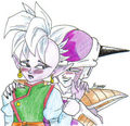 Frieza loves Shin lol - cell-and-frieza fan art
