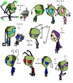 Invader Zim Fancharacters by Me