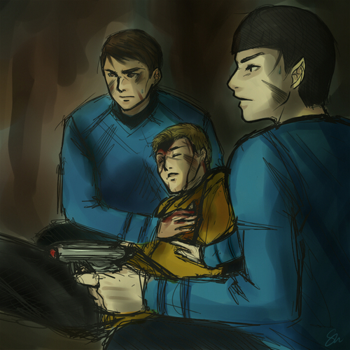 Kirk, McCoy, and Spock