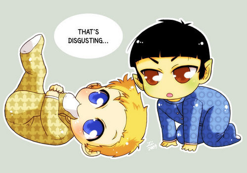 Kirk and spock as babies - spirk Fan Art