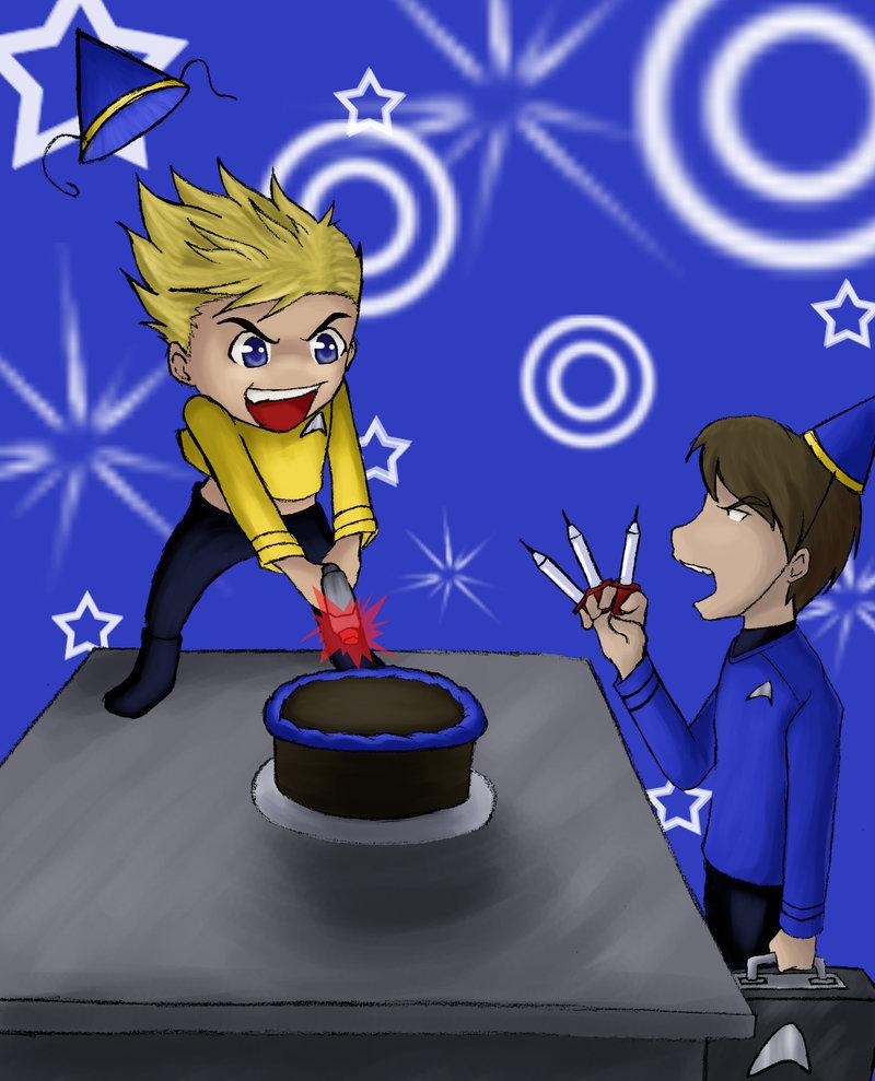 Kirk ruins McCoy's birthday