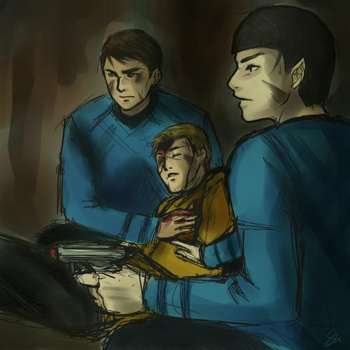 McCoy, Kirk, Spock