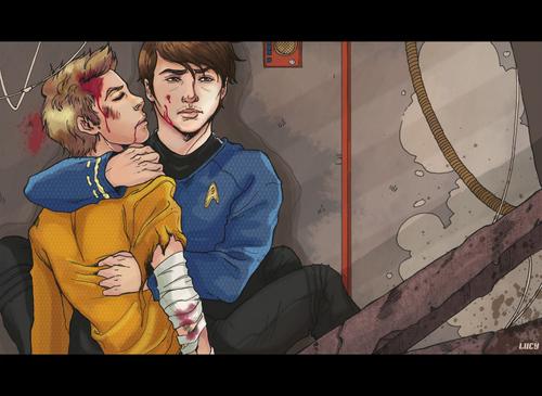 Star Trek (2009) wallpaper called McCoy and Kirk