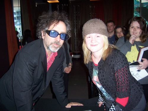 Me and Tim burton at ACMI in Melbourne, Aus.