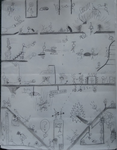 My aleatório stick figure war drawing :D