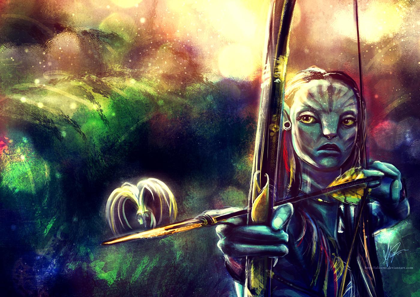 Neytiri painting
