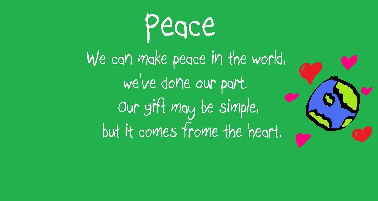 poem about peace This is the final stanza of helen maria williams's ode on the peace, a poem  written after the settlement of the provisional treaty that ended the american war  of.