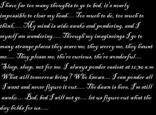 Ponder, ponder......