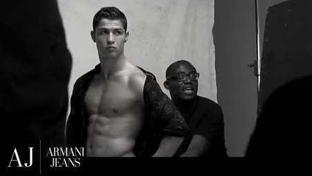 Ronaldo Armani Photoshoot