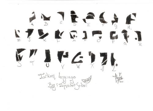 Irken Alphabet