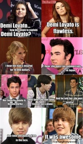 Stars about Demi