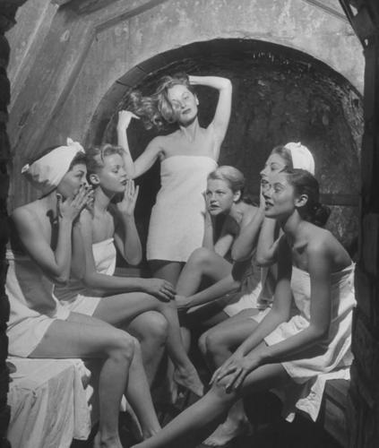 The Girls taking a Finish Sauna