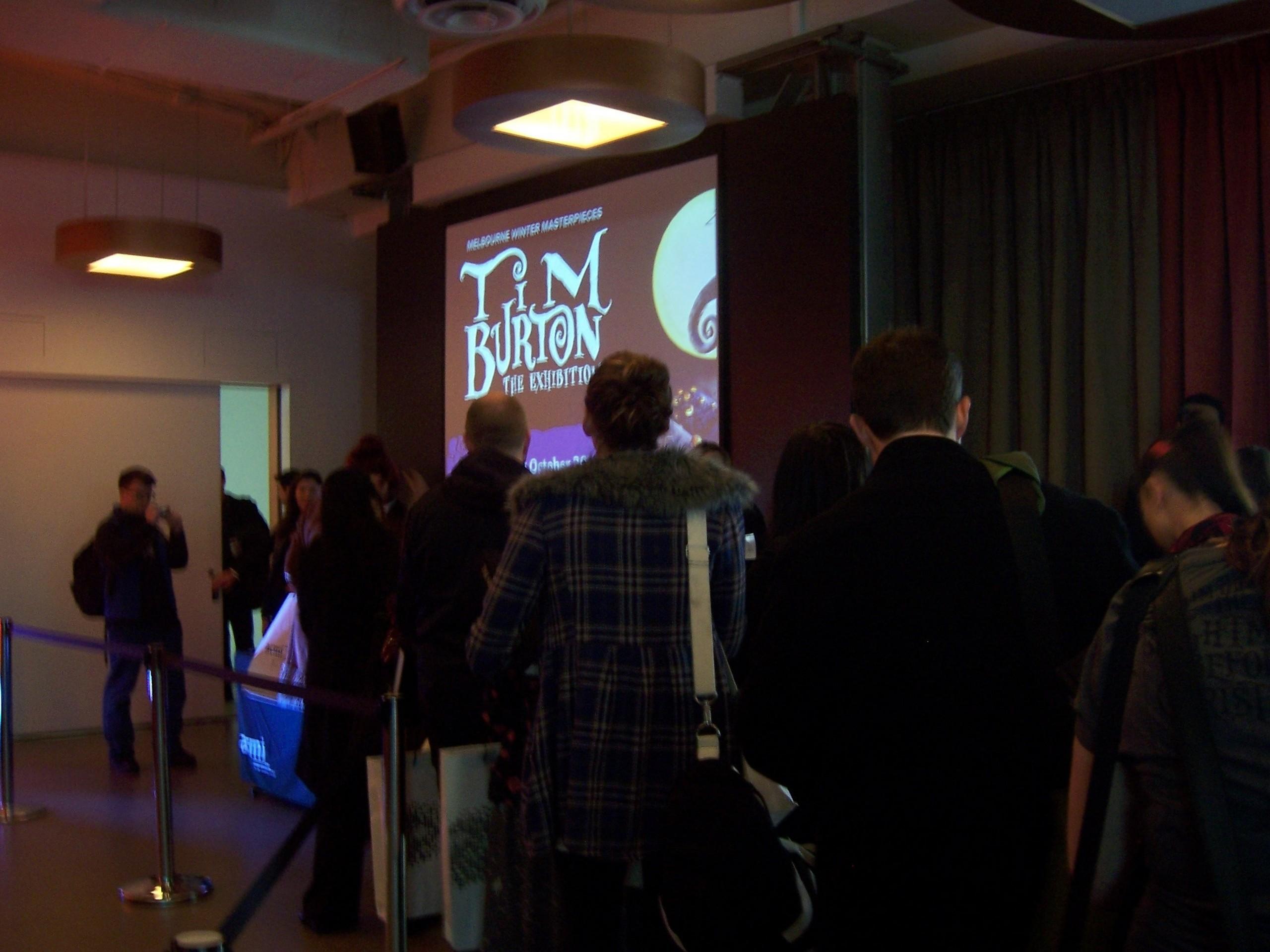 Tim Burton doing a book signing at ACMI, Melbourne