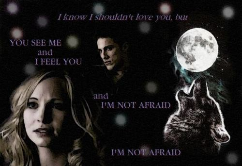 Tyler and Caroline wallpaper entitled Tyler/Caroline Wolf & Moon 2