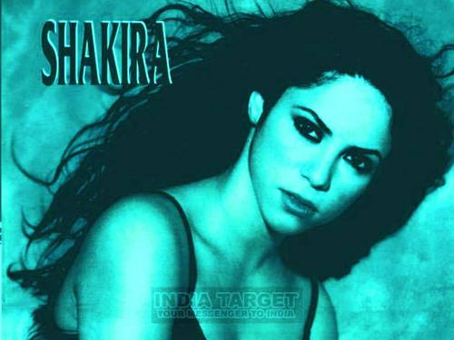 blue shakira - shakira Wallpaper