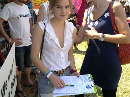 emma watson Glastonbury 2010 festival