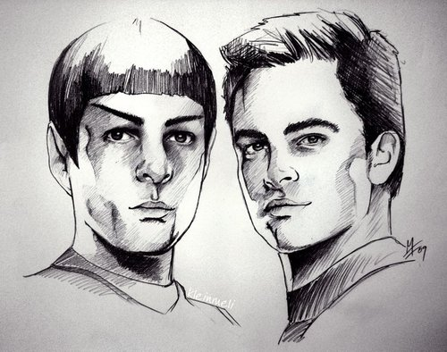 kirk and spock - star-trek-2009 Fan Art