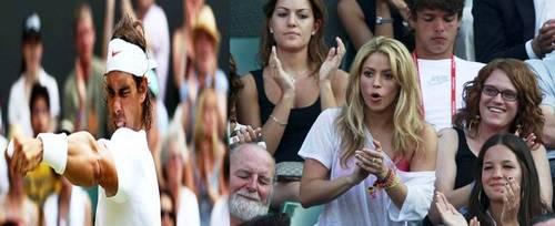 rafa and Shakira wimbledon