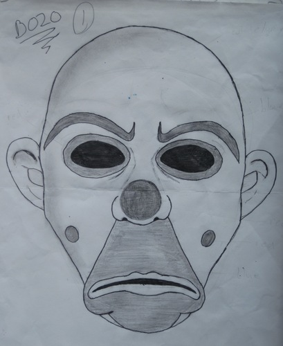 sketch of the Bozo mask
