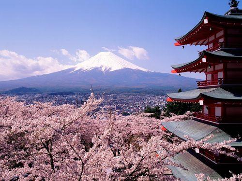 spring in जापान