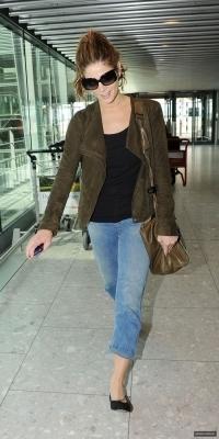 Ashley arriving @ Heathrow Airport