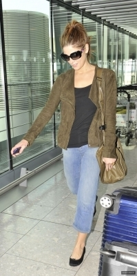 Ashley arriving @ Heathrow Airport