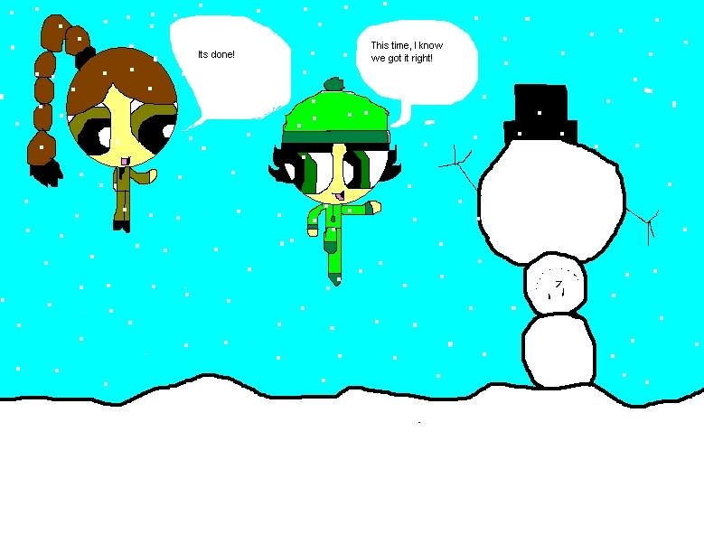 caramelo de azúcar con mantequilla, caramelo de mantequilla and Remona makeing a snowman