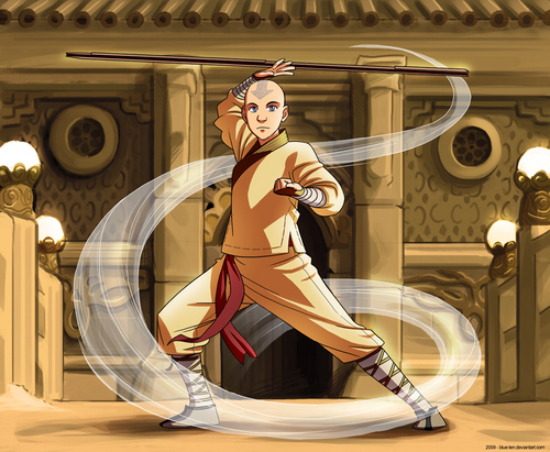 Catroon version of film Aang