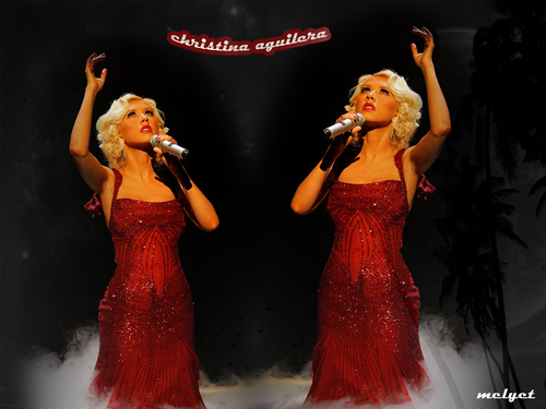 Video Muzik kertas dinding entitled Christina aguilera live