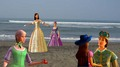 Corinne, Viveca, Aramina, Renee , and Louis in Pelabuhan Ratu - barbie-and-the-three-musketeers fan art