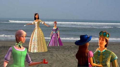 Corinne, Viveca, Aramina, Renee , and Louis in Pelabuhan Ratu