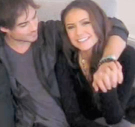 Ian Somerhalder and Nina Dobrev wallpaper titled Ian & Nina