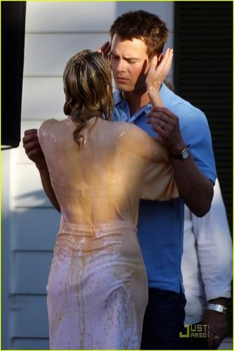 Josh & Elizabeth on Set