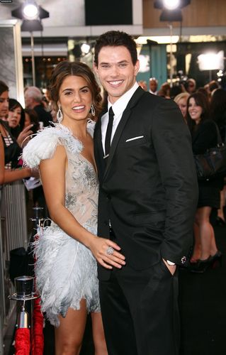 Kellan and Nikki at the 'Eclipse' Premiere