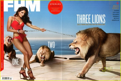 Kelly Brook Covers 'FHM UK' July 2010